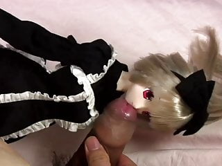 my dick playing with my anime doll