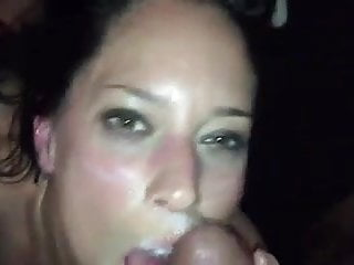 Amateur white cum on face from bbc...