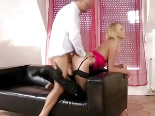 Young british slut fucked by an old man