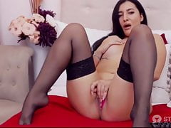 YaaraCollins in black stockings and sexy Camgirl have live sex show