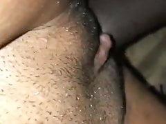 Close up black couple having sex