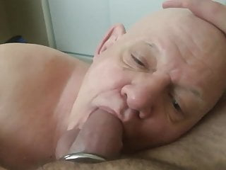 cock (5) grandpa Lovely worships bald