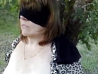 Abbey the hot aussie milf blindfolded and bound