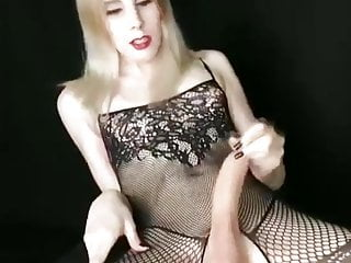stroking tranny cock big Hung white her