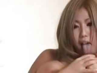 Asian self nipple licker...