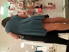 Asain MILF short clingy dress Quick juicy booty follow