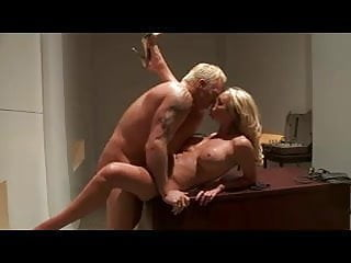British blonde slut Paige fucked on the desk