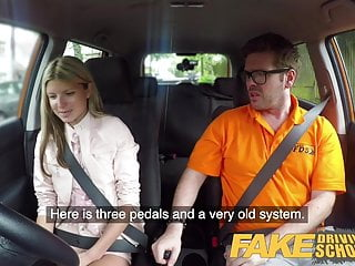 Fake Driving School Hot and lonely blonde Russian fucked