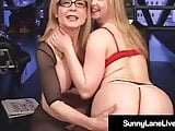 Little Sunny Lane Gets Pussy Pleasured By GILF Nina Hartley!