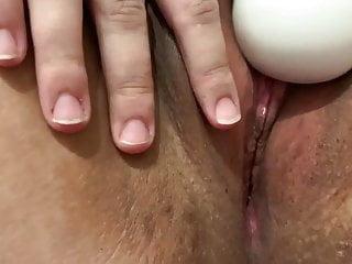 Slut makes her wet pussy cum