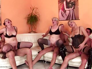 3 on 3 mature mothers fuck young sons...