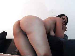 Hard anal sex and masturbation of a latina couple on cam