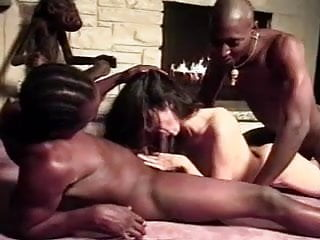 Amateur - Young Brunette - BBC Anal Threesome CIM Facials