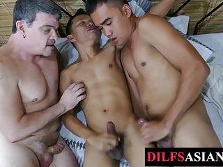 Asian twunk tickled daddy...