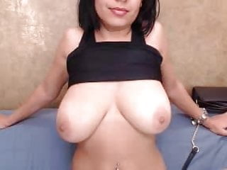 brunette rubs and shows Exotic tits big pussy