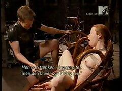 MTV Strutter - redhead gets pussy sprayed in water bondage