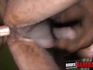 Ebony gay rides while masturbating and cumming...