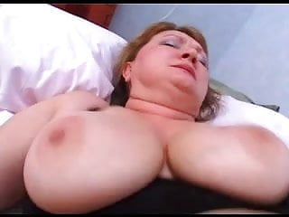 Chubby mature in stockings...