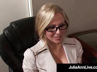 Award Winning Milf Julia Ann Gets Cum In Her Eye On The Job