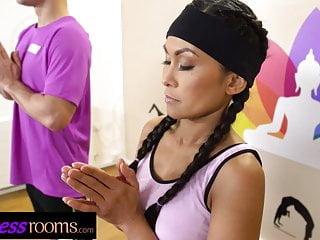 Fitness rooms tiny suzie q blows perv yoga...