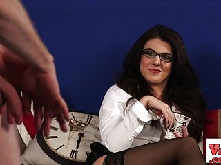 British spex femdom blackmails joi loser...