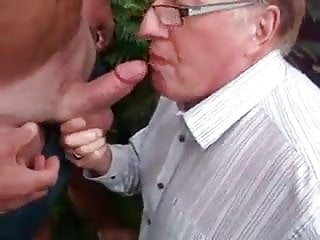 Another Daddy Sucking Dicks Outside