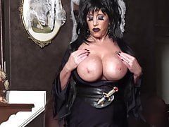 Elvira in Black FF Stockings.
