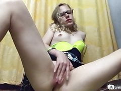 Hot stepsister moans while fingering herself passionately