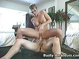 Busty amateur Tera riding on cock