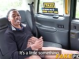 Inked taxi driving MILF anally stretched by big black dong