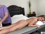 April gets erotic massage and fucked by step brother