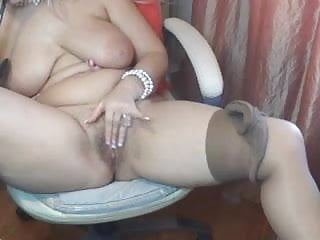 Plump Mature Plays with Herself