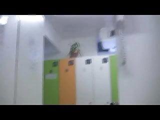 Little Caprice in locker room