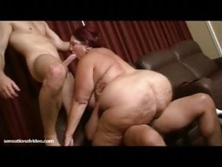 BBW Peaches LaRue Fucks 2 Strangers at Movie Theater