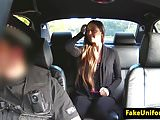 Uk cop throats pulled babe outdoors POV