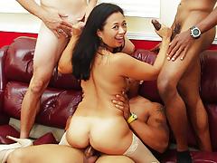 team fucks girl - asian milf lucky starr ir gangbangfree full porn