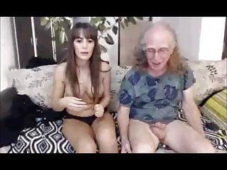 Tits Brunette Mature video: hippy grandpa