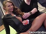 Busty German vixen penetrated with multiple big cocks