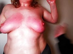 Using her tits for fun - Slap until red Part 3 DC