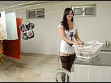 German beauty Fuck in laundry from her neighbor