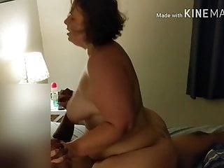 Den fete kone og den store svarte pikken