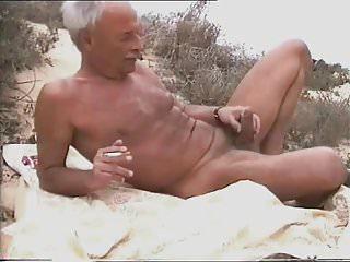 Sunbathing horny daddy silence...