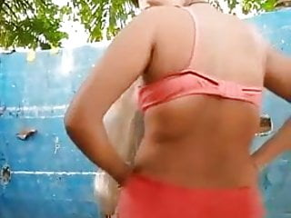 Desi whore bathing