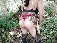 Indian Aunt Expose Herself In Forest Outdoor Public Solo Sex