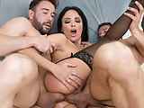 Extremely Gorgeous Anissa Kate DP'd by Two Capable Cocks
