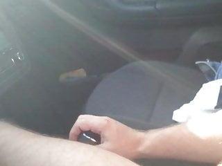 Naked car driving jerking...