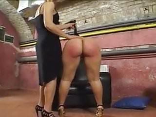 Gets spanked...