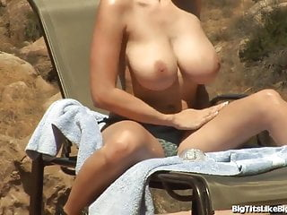 Busty michaels titty fucked out patio...