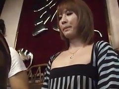 Ladyboy cums in restaurant