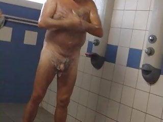 سکس گی Bearded daddy in locker room voyeur  small cock  locker room  hd videos fat  daddy  bear